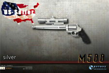 1/6 Scale Pistol Weapon SILVER Gun M500 Magnum For 12'' Hot Toys Figure ❶USA❶