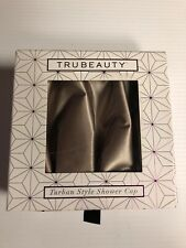 New Turban Style Shower Cap Trubeauty Satin Beige New