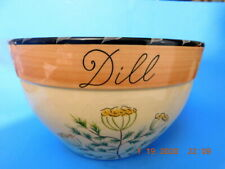 """Certified International """"Culinary Herbs"""" Theme Med Ceramic Bowl 9.75""""x 6"""""""