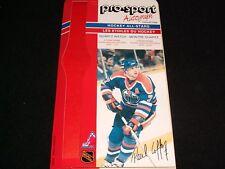 1986-87 Pro-Sport Autograph Card °EDMONTON OILERS #7,PAUL COFFEY<>