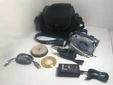 Sony DCR-DVD300 NTSC Video Camera -Case, Chargers, USB cable, Blank DVD ++