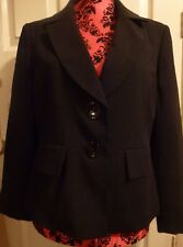 BNWOT Ladies Smart Black Debenhams Polka Dot Lined Blazer Size14 Petite