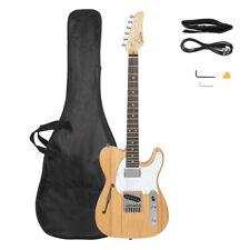 Gtl Semi-Hollow Electric Guitar F Hole Hs Pickups Burlywood Electric Guitar