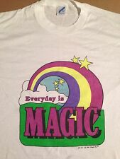 Vintage Everyday Is Magic Rainbow Hyper Color Dead Stock Shirt
