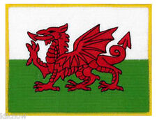 """Wales (Welsh Dragon) Embroidered Patch 5""""x 4""""(1 x10CM)"""