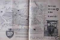PUBLICITÉ 1958 BP VOICI LA ROUTE VERT ET JAUNE DE MOSE - ADVERTISING