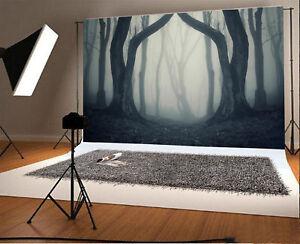 4x2.5ft Vintage Dark Woods Vinyl Props Photo Background Studio Photography