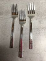 Oneida CAPRICE Salad Forks Lot 3 Nobility Silverplate 1937