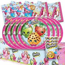 Shopkins Children's Birthday Complete Party Tableware Pack Kit For 8
