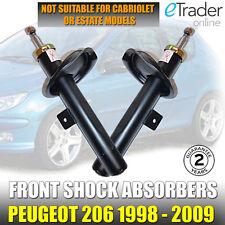 Peugeot 206 Delantero Amortiguadores X 2 par Shockers Amortiguadores 1998-2009 choques NUEVO