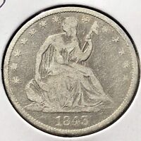1843 O Seated Liberty Half Dollar 50c New Orleans Better Grade #11853