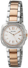 Bulova 98R206Diamond White Dial Two Tone Stainless Steel Women's Watch
