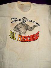 Vintage IWA World Champion Mil Mascaras T-Shirt (1975), Adult Size Medium, Worn