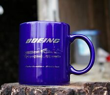 Blue Boeing Mug Fabrication Division Aerospace Manufacturing Company