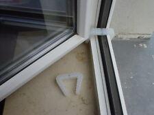 4 St. Fensterklammer, transparent, Zugluftsicherung für Fenster, Fenstersteller