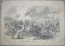 John Morgan's Highwaymen Sacking Village West Kentucky Harper's Weekly 1862