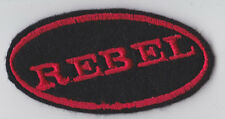 REBEL OVAL PATCH BIKER TRIKER MOTORCYCLE