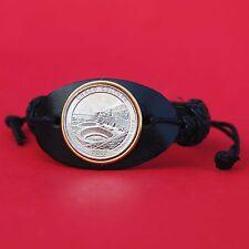 2012 New Mexico Chaco Culture National Historical Park Quarter Leather Bracelet