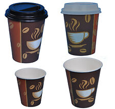 Hartpapier Coffee to go Becher  Pappbecher  Kaffeebecher  mit oder ohne Deckel