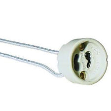 2 x Lampenfassung GU10 rund für Hochvoltlampen 11cm Kabel max. 230V/100W