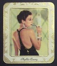 Phyllis Barry 1934 Garbaty Film Star Series 2 Embossed Cigarette Card #256