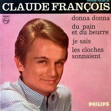 """CLAUDE FRANCOIS - DONNA DONNA + 3 - PHILIPS - 7"""" EXTENDED PLAY - FRANCE"""