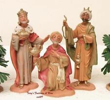 "Fontanini Depose Italy 4"" 3 Kings Balthazar-Melchior-Gaspar Nativity New No Box"