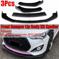 For Hyundai Veloster 2013-2017 Matte Black Front Bumper Lip Body Kit
