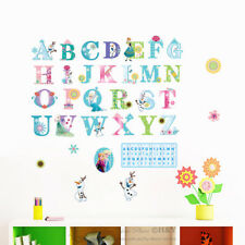Frozen Alphabet Elsa Anna Wall Sticker Kids Girl Nursery Decor Vinyl Decal Mural