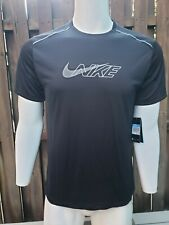 Nike Men's Dri-Fit Running T-shirt Bv5397-010 Black Size M