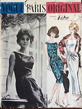 1960's Vogue Sewing Pattern # 1128 Paris Original Patou Dress and Stole sz 12