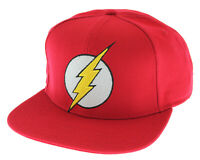 DC Comics The Flash Licensed Embroidered Logo Snapback Cap Hat
