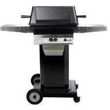PGS A40 Cast Aluminum Propane Gas Grill on Black Portable Pedestal Base