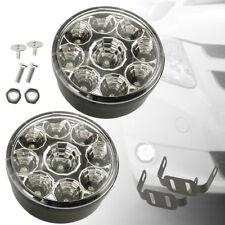 2x Universal 9 LED Lights 12V Spot Fog Lamps For Vauxhall Astra Corsa Vetra
