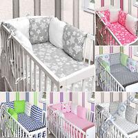 3tlg.-8tlg. Baby Bettwäsche 6 x Kissen als Nestchen  Bettset 100x135 Decke Neu