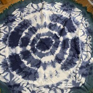 Gypsy Circle Fringe Boho Beach Blanket Roundie Tapestry Tablecloth
