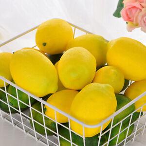 1/10/20x Zitrone lebensechte künstliche Kunststoff gefälschte Früchte Nachahmun