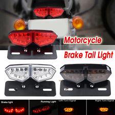 18 LED Motorcycle Smoke Brake Rear Tail Turn Signal License Integrated Light