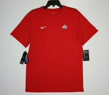 Nike Ohio State Buckeyes Dri-Fit T-Shirt Red White Men's NEW