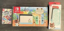 NINTENDO SWITCH ANIMAL CROSSING EDITION WITH CASE & MARIO PARTY