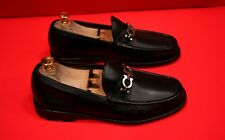$729.00 !! SALVATORE FERRAGAMO MEN'S BLACK LEATHER HORSEBIT LOAFERS SIZE 8 EE
