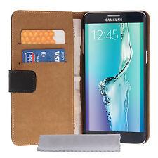 Caseflex Accesorios Samsung Galaxy S6 Edge Plus Cartera De Cuero teléfono Funda Protectora