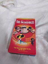 The Incredibles (Vhs, 2005) *Rare & Oop* Disney Pixar Htf Video Tape Version