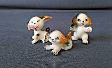 Cutest Mini Vintage Bone China Porcelain Dog Figurines - Family of 3