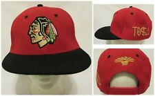 c9636e6a2465f Chicago Blackhawks Indian NHL Hockey Red Tisa Snapback Hat Cap Embroidered  Red