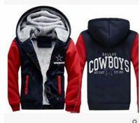 NEW Men's Dallas Cowboys Hoodie Zip up Jacket Coat Winter Warm 3 Colors