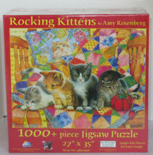 SunsOut 1000+ Piece Jigsaw Puzzle ROCKING KITTENS Cats Quilt Yarn Amy Rosenberg