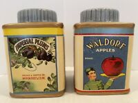 Sakura Vintage Fruit Labels Salt and Pepper Shakers With Stoppers