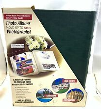 2-Pack Holds 600 Photos Dark Green Leather Archival Safe Photo Albums New nos