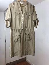 Michael Kors Beige Silk Shirt Dress Size: S RRP£790